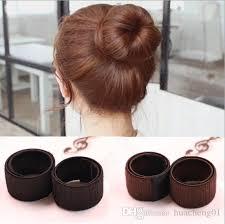 cool hair donut hair magic tools bun maker hair ties girl diy styling donut former