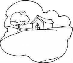 cottage on the hill architecture coloring page art u0026 culture