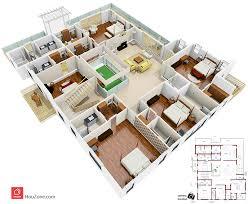 Customized House Plans 3d Floor Plan Of A Duplex House U2013 Houzone