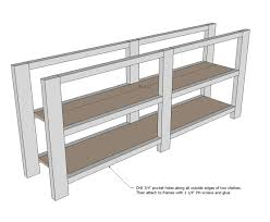 Diy Furniture Plans by Ana White Rustic X Console Diy Projects