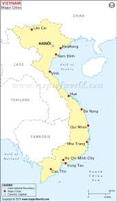 China Map Cities by Vietnam Cities Map Major Cities In Vietnam