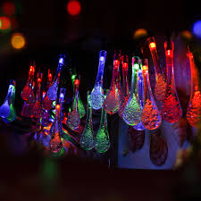 Outdoor Fairy Lights Solar by Aliexpress Com Buy 30 Led Solar Powered Water Drop String Lights