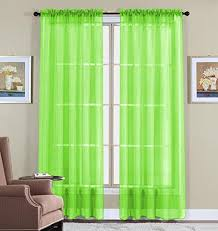 Green Curtains For Living Room by Lime Green Curtains Amazon Com