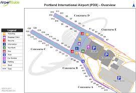 Dfw Terminal Map Portland Portland International Pdx Airport Terminal Map