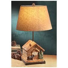 Cabin Light Fixtures by Castlecreek Cabin Table Lamp 307440 Lighting At Sportsman U0027s Guide
