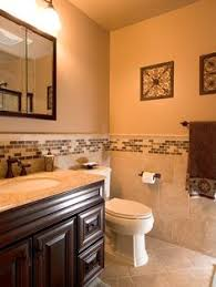 Ideas For Tiling Bathrooms Colors Bathroom Good Looking Brown Tiled Bath Surround For Small