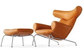 Ottoman With Chair Hans Wegner Ej100 Ox Chair Ottoman Hivemodern