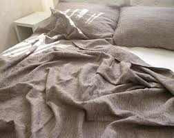 organic duvet cover dark gray natural 100 linen duvet cover