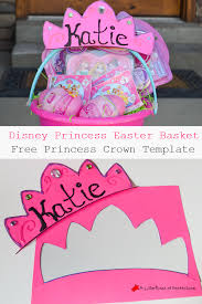 disney princess personalized easter basket free princess crown