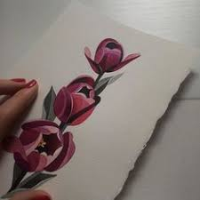sashaunisex watercolor rose beautiful art pinterest