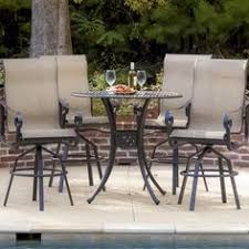 Lakeview Patio Furniture by Acadia 2 Person Sling Patio Bar Set By Lakeview Outdoor Designs