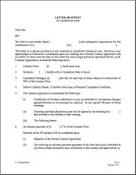 letter of intent template contractstore within letter of intent