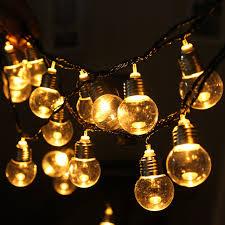20 led string lights clear globe bulbs l garden