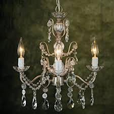 Plug In Crystal Chandelier Madeleine Vintage Silver Crystal Chandelier Mini Swag Plug In