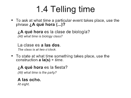 1 4 telling time