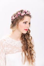 flower headbands pink flower crown wedding headpiece flower crown bridal