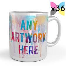 36x wholesale bulk buy personalised promotional mugs your logo