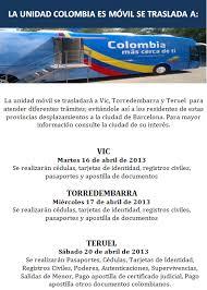 consolato colombiano consulado de colombia en barcelona colombia en espa繿a