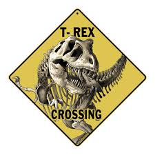 dinosaur wall murals dino decor room decorations stickers crosswalks t rex dinosaur skeleton crossing aluminum sign wall decoration