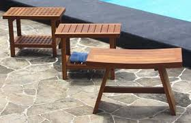 trying out a teak shower bench elliott spour house