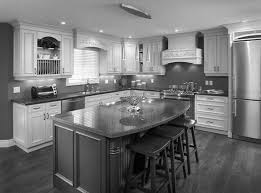 kitchen color ideas with oak cabis and black appliances design