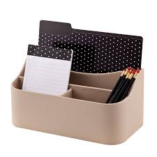 Leather Desk Accessories Organizers by See Jane Work Faux Leather Desk Valet 6 H X 12 12 W X 6 D Tan By