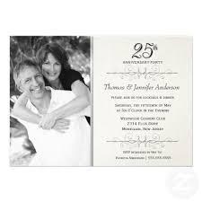 25th wedding anniversary invitations 25th wedding anniversary invitation invitation ideas
