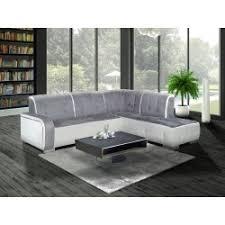 canape angle canapé d angle droit florida gris et blanc top déco