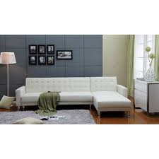 White Leather Tufted Sofa Tufted Leather Sleeper Sofa 30 Chesterfield Audioequipos