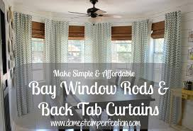 Curtains Without Rods Diy Bay Window Curtain Rod Back Tab Curtains Window Rods Tab