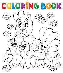 papier peint a colorier coloriage de pâques la poule et ses adorables poussins