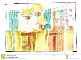 dining room design stock image image of interior chairs 56548091