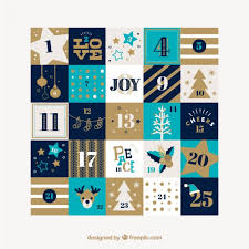 pretty calendar with ornaments and stripes vector free