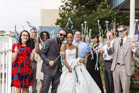 wedding wands a colorful picture send with ribbon wands joyful send