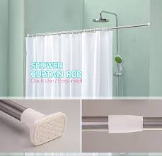 Portable Shower Curtain Rod Retractable Bath Curtain Rodstainless Steel Curtain Extended Rods