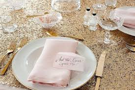 wanted gold glitter tablecloth weddingbee