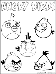 angry birds colouring pages that you can use as templates is
