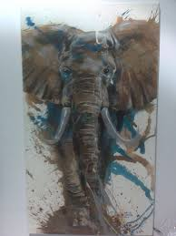 this elephant painting would work so well on the brick wall in my