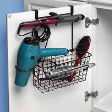 Cabinet Door Basket Dryer Holder Hair Dryer Storage Basket The Cabinet Door