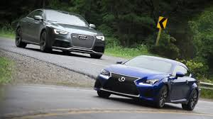 lexus cars with v8 2015 lexus rc f vs 2015 audi rs 5 youtube