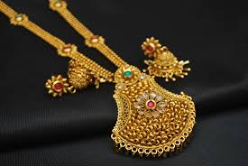 fashion jewellery necklace sets images Artificial copper base multicolour stone studded necklace set jpg
