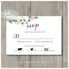 Wedding Reply Cards Wedding Meal Option Reply Card Food Icon Meal Choice