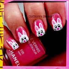 easter bunny nail art u2013 slybury com