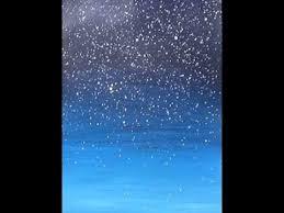 acrylic painting easy night sky with stars youtube