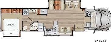 Rv Floor Plans Class A Dx3 Motor Home Class C Diesel Rv Sales 5 Floorplans