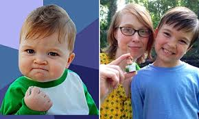 Baby With Fist Meme - success kid meme boy who became a viral star is all grown up at