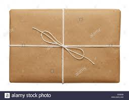 brown writing paper string and brown wrapping paper stock photo royalty free image brown paper parcel with thin tied rope package or present isolated on white background