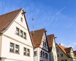 gable roof traditional german half timbered house in medieval
