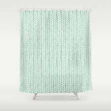 Mint Shower Curtain Knitting Shower Curtains Society6