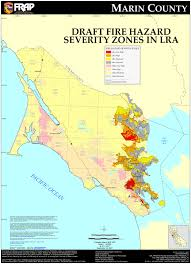 Ca Wildfire Map 2014 by Wui Wildland Urban Interface Firesafe Marin